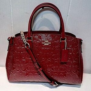 Coach Sage in Cherry Debossed Patent Leather F3148
